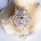 100 pcs 25mm Rhinestone Button Round Diamante Crystal Hair Clip Wedding Invitation BT049