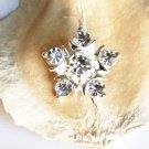 50 Rhinestone Button Round Diamante Crystal Hair Clip Wedding Invitation BT073