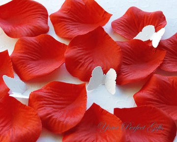 1000 RED SILK ROSE PETALS WEDDING DECORATION FLOWER FAVOR RP019