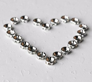 20 pcs Swarovski Roundelle Rhinestone Crystal Silver Plated Spacer 6mm Bead Caps AC028
