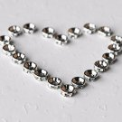 20 pcs Swarovski Roundelle Rhinestone Crystal Silver Plated Spacer 8mm Bead Caps AC029