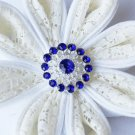 10 Rhinestone Button Dark Sapphire Blue Crystal Hair Flower Comb Wedding Invitation BT107