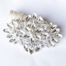 1 pc Rhinestone Crystal Diamante Silver Flower Brooch Pin Jewelry Wedding Cake Decoration BR075