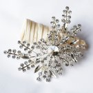 1 pc Rhinestone Crystal Diamante Silver Flower Brooch Pin Jewelry Wedding Cake Decoration BR088