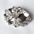 1 pc Rhinestone Crystal Diamante Silver Flower Brooch Pin Jewelry Wedding Cake Decoration BR092