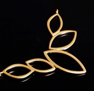 10 pcs Marquise Ring Pendant Charm Connector Gold Plated AC047