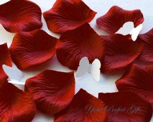 1000 BERRY RED SILK ROSE PETALS WEDDING DECORATION FLOWER FAVOR RP018