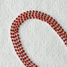3 Feet/1 Yard SS8 2.5mm Ruby Red Rhinestone Chain Crystal Silver Wedding Cake Banding RC025