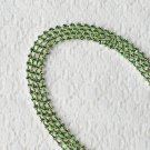 3 Feet/1 Yard SS8 2.5mm Peridot Green Rhinestone Chain Crystal Silver Wedding Cake Banding RC027