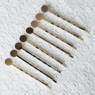 "40 Bobby Hairpin Hair Pin Hair Clip 2-1/4"" Length 8mm Round Pad Silver AC072"
