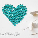 100 Acrylic Faceted Flat Back Teal Blue Rhinestone 11mm Wedding Invitation scrapbooking LR138