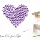 100 Acrylic Flat Back Lavender Light Purple Rhinestone 11mm Wedding Invitation scrapbooking LR139