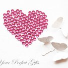 100 Acrylic Faceted Flat Back Rose Pink Rhinestone 11mm Wedding Invitation scrapbooking LR140