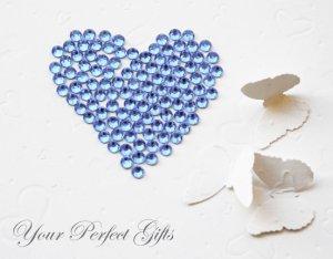 1000 Acrylic Faceted Flat Back Light Blue Rhinestone 2mm Wedding Invitation scrapbooking LR127