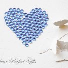 100 Acrylic Faceted Flat Back Light Blue Rhinestone 11mm Wedding Invitation scrapbooking LR142