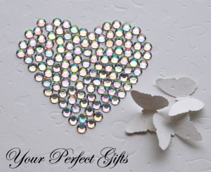 1000 Acrylic Round Faceted Rhinestone 2mm Clear AB Crystal Wedding Invitation scrapbooking LR131