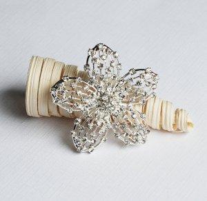 1 pc Rhinestone Brooch Crystal Clip Pin Wedding Cake Decoration Invitation BR105