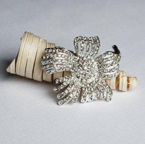 1 pc Rhinestone Brooch Crystal Clip Pin Wedding Cake Decoration Invitation BR107
