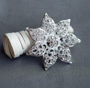 """1 pc Rhinestone Brooch 2.5"""" Crystal Wedding Invitation Cake Bouquet Decoration BR108"""