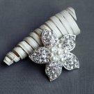 """1 pc Rhinestone Brooch 2"""" Crystal Pearl Wedding Invitation Cake Bouquet Decoration BR109"""