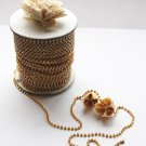 30 Feet/10 Yards SS8 2.5mm Rhinestone Chain Crystal Gold Wedding Cake Banding Jewelry RC017
