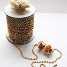 3 Feet/1 Yard SS8 2.5mm Rhinestone Chain Crystal Gold Wedding Cake Banding Jewelry RC017