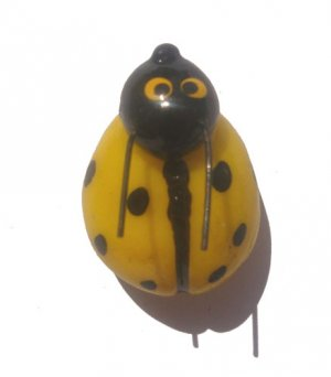 Yellow Lady Bug---ALL MAGNET ORDERS HAVE A 25 PIECE MINIMUM (ASSORTED OR SAME)