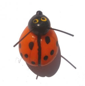 Orange Lady Bug---ALL MAGNET ORDERS HAVE A 25 PIECE MINIMUM (ASSORTED OR SAME)