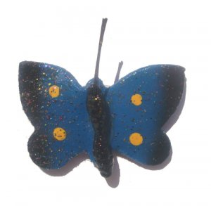 Blue  Butterfly--ALL MAGNET ORDERS HAVE A 25 PIECE MINIMUM (ASSORTED OR SAME)
