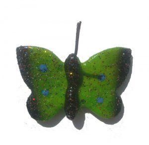 Green Butterfly--ALL MAGNET ORDERS HAVE A 25 PIECE MINIMUM (ASSORTED OR SAME)