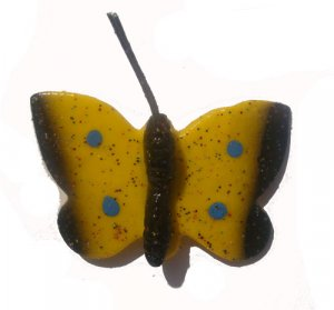 Yellow Butterfly--ALL MAGNET ORDERS HAVE A 25 PIECE MINIMUM (ASSORTED OR SAME)