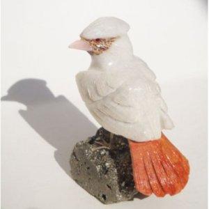 "Natural Gemstone Aragonite Bird Carving Figurine 3.0"""