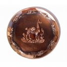 "PERU LIGHT WEIGHT COPPER BATHED DECORATIVE PLATE 10.5"" DIAMETER WITH LLAMA MOTIF"