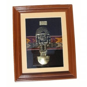 "PERU TUMI 'CEREMONIAL DAGGER' DECORATIVE FRAMED ART 10.25""H X 8.25""W"