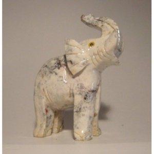 "Soapstone Elephant Figurine 3.5""h Elephant Carving"