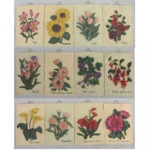 12 Piece Wall Plaque Flower Set