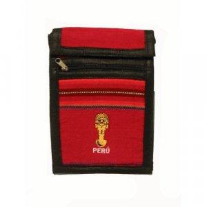 "Dark Red Tumi Ceremonial Dagger Peru Shoulder Bag 8.5""H x 5.75""W with 40 inch shoulder strap"