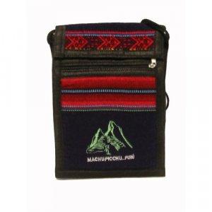 """Black Machu Picchu Design Shoulder Bag 8.5""""H x 5.75""""W with 40 inch shoulder strap"""