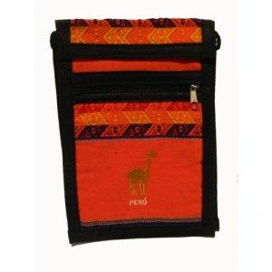 "Bright Orange Llama  Shoulder Bag 8.5""H x 5.75""W with 40 inch shoulder strap"