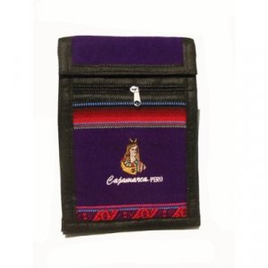 "Deep Purple Inca Shoulder Bag 8.5""H x 5.75""W with 40 inch shoulder strap"
