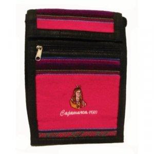 """Hot Pink  Inca Shoulder Bag 8.5""""H x 5.75""""W with 40 inch shoulder strap"""