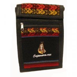 """Black Inca Shoulder Bag 8.5""""H x 5.75""""W with 40 inch shoulder strap"""