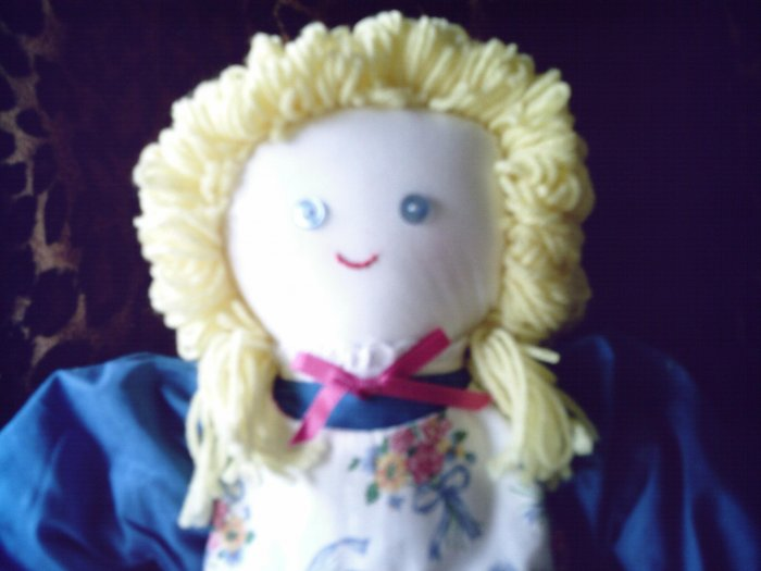 ON HOLD New Handmade Cloth Girl Doll One of a Kind OOAK 21 inches Handcrafted Dolls