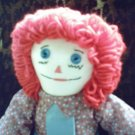 One of A Kind OOAK Handmade Raggedy Andy Cloth Doll Handcrafted Dolls