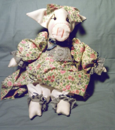 Cute Animal Pig Doll New Handmade One of a Kind OOAK Cloth Dolls
