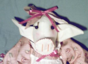 Handmade Pig Doll Handcrafted One of a Kind Cloth Doll Cute Piggy!