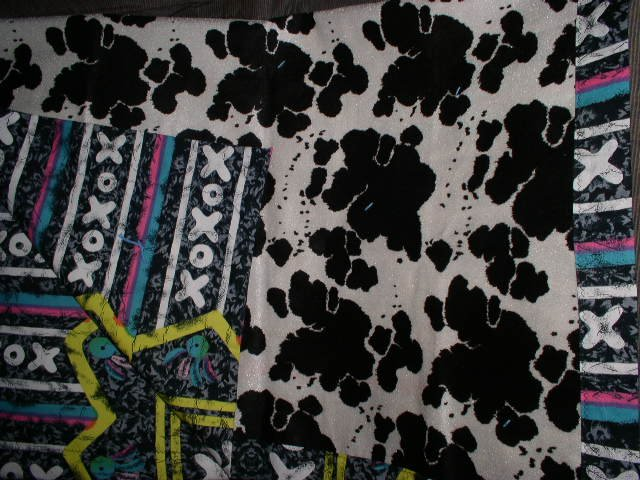 Cow Print Quilt Handmade One of a Kind OOAK Quilts Hugs and Kisses XOXO Cute!!