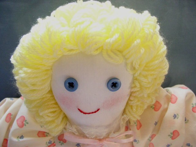 Handmade One of a Kind Cloth Little Girl Doll OOAK Hand embroidered face! Dolls