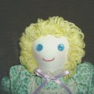 Hand made Cloth Girl Doll One of a Kind OOAK Handmade Dolls Green Floral!