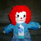 Ladybug Raggedy Andy Doll Handmade One of a Kind Cloth Dolls OOAK Hand embroidered face!